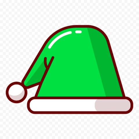 Vector Green Christmas Santa Hat Icon PNG
