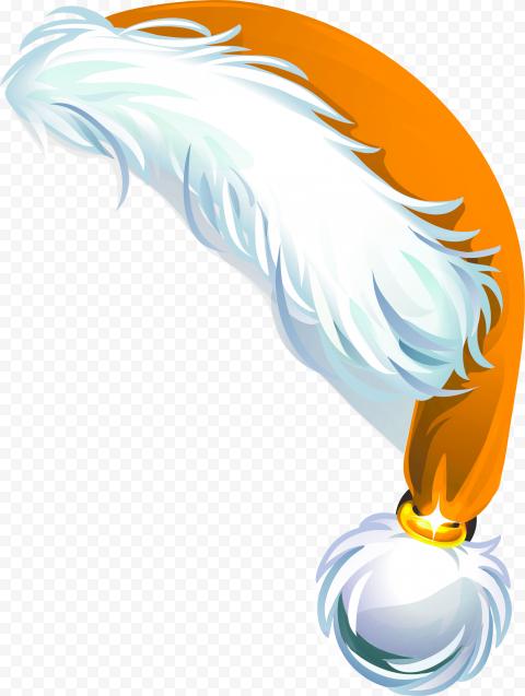HD Beautiful Orange Christmas Santa Claus Hat Cartoon Illustration PNG