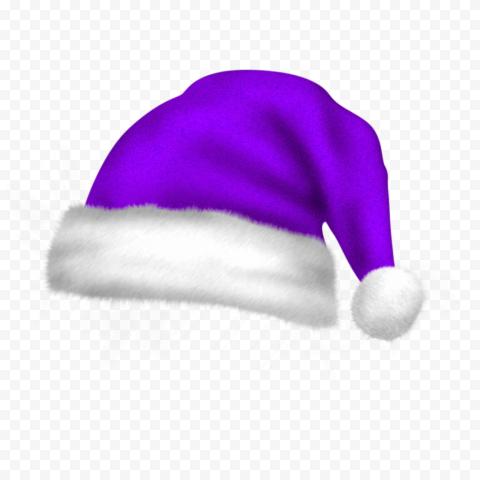 HD Real Cute Purple Christmas Santa Claus Bonnet PNG