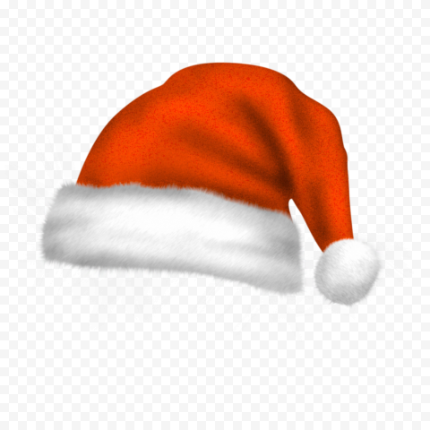 HD Real Cute Orange Christmas Santa Claus Bonnet PNG