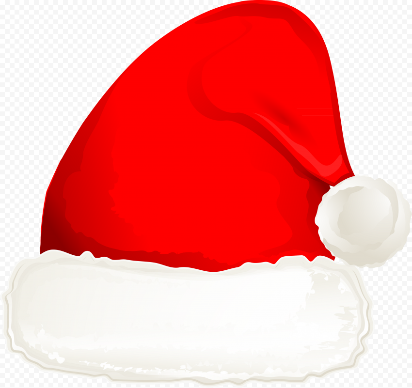 HD Beautiful Aesthetic Watercolor Red Christmas Hat PNG