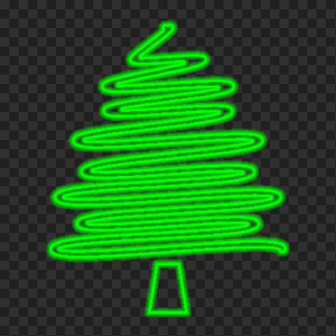 HD Creative Green Neon Christmas Tree PNG