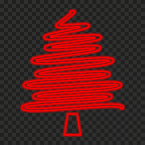 HD Creative Red Neon Christmas Tree PNG