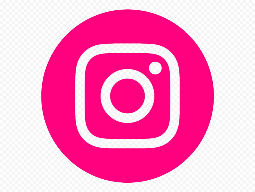 HD Round Circle Pink Outline Instagram IG Logo Icon PNG