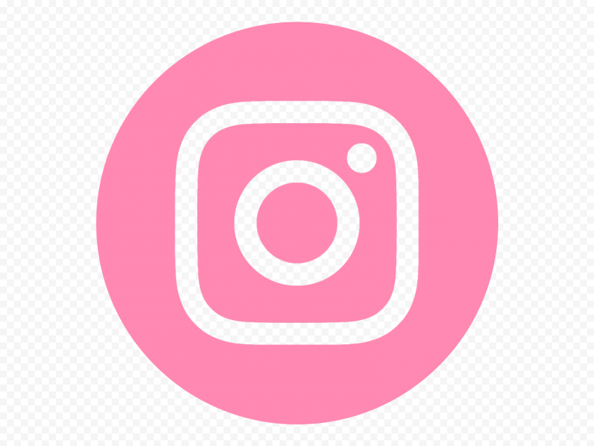HD Light Pink Round Instagram IG Logo Icon PNG