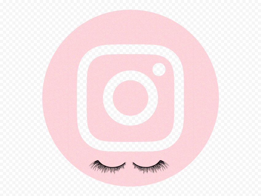 HD Girly Round Pink Aesthetic Instagram IG Logo Icon PNG