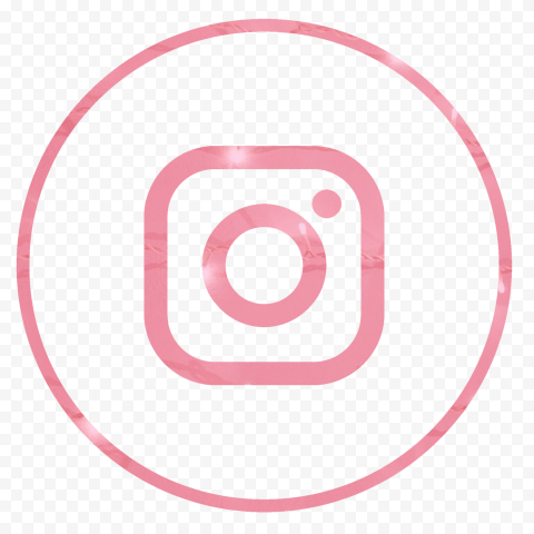 HD Pink Aesthetic Outline Circular Insta Instagram Logo Icon PNG