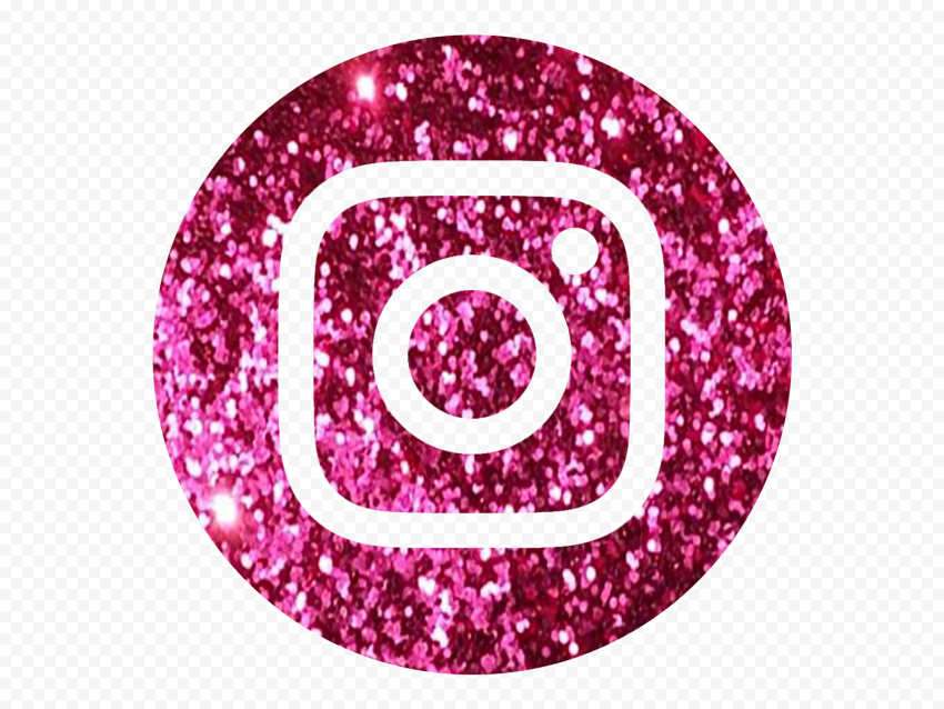 HD Aesthetic Pink Glitter Round Instagram Logo Icon PNG ...