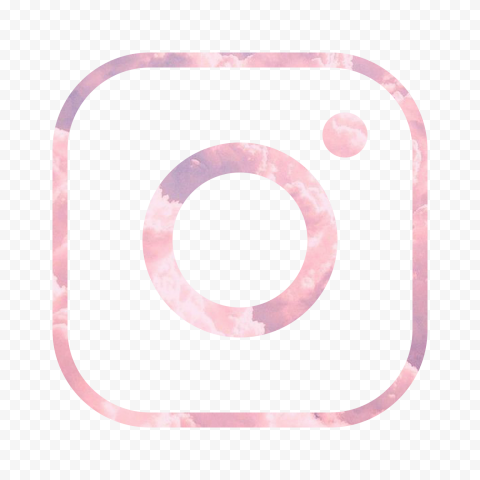 HD Pink Cloud Aesthetic Instagram IG Logo Icon PNG
