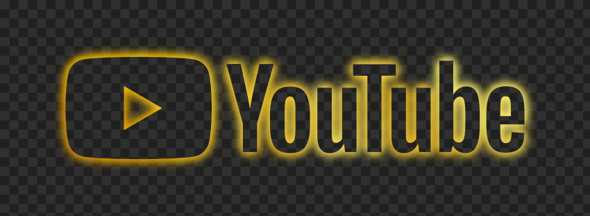 HD Yellow Neon Aesthetic Youtube YT Logo PNG   Citypng