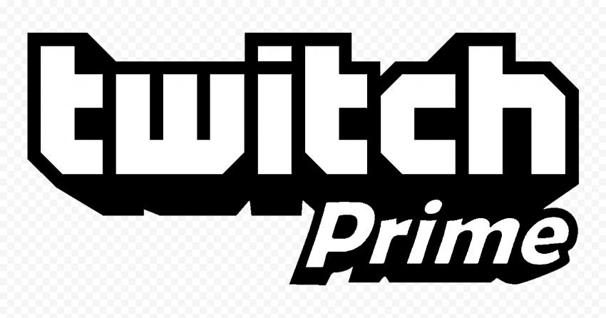 HD Twitch Prime Black & White Logo PNG