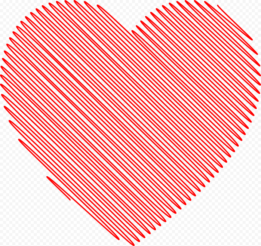 HD Scribble Red Valentine Day Love Heart PNG