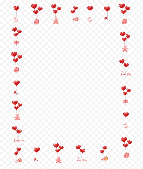 HD Beautiful Valentines Items Frame PNG