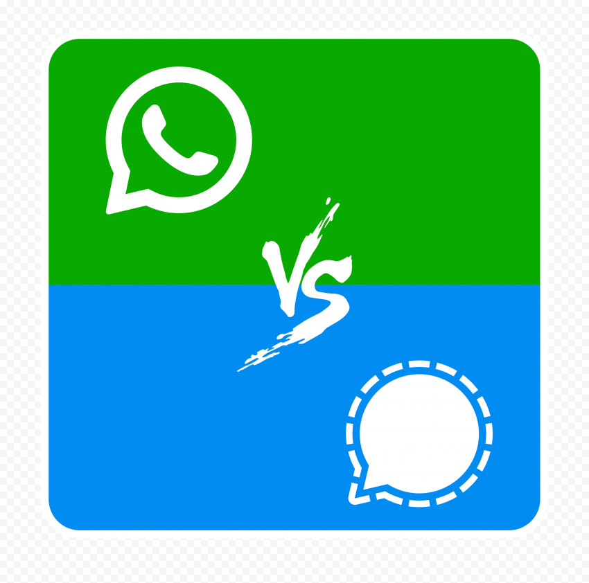 HD Signal VS Whatsapp Square Icon Transparent PNG