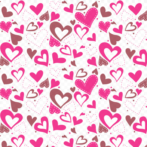 HD Valentines Day Pattern Background Clipart PNG