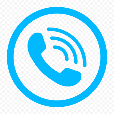 HD Light Blue Round Circle Phone Icon PNG