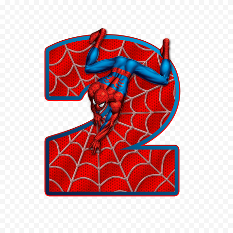 HD Spider Man Number Two 2 PNG