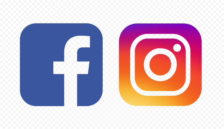 HD Old Facebook Instagram Outline Square Logos Icons PNG