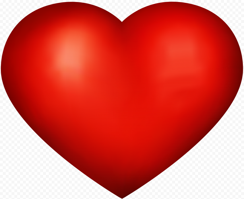 HD Red Heart Love Valentine Day Romantic PNG