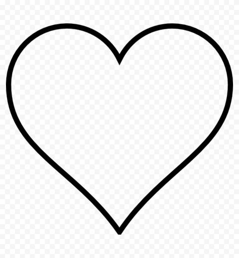 Heart emoji outline black Heart emoji