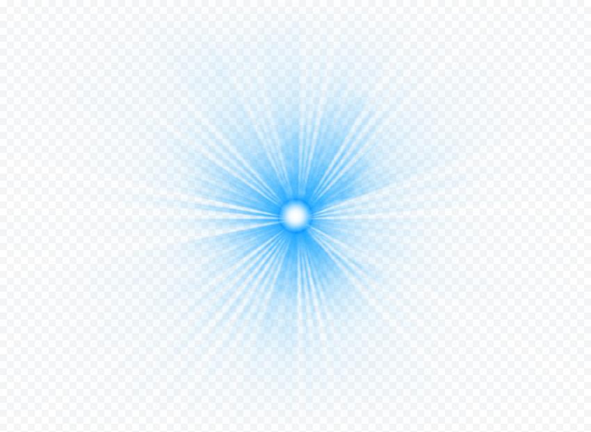 HD Blue Laser Lens Flare Effect FREE PNG