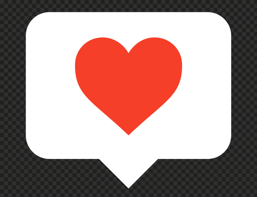 HD Beautiful Red & White Heart Icon Notification Instagram PNG