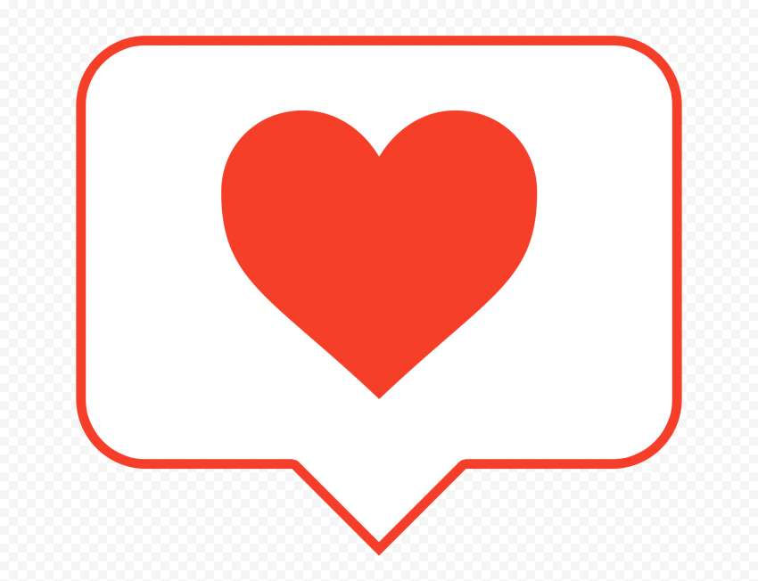 HD Aesthetic Red & White Heart Icon Notification Instagram PNG