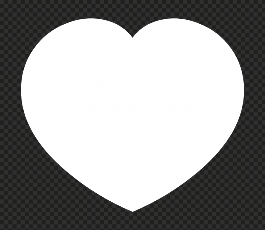HD White Large Heart Icon PNG