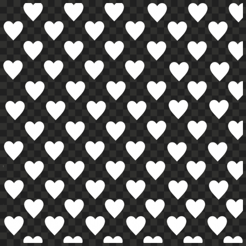 HD White Emoji Hearts Pattern Background PNG