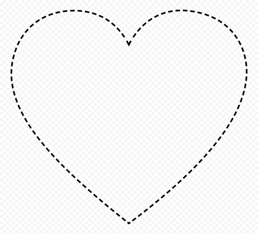 HD Black Dotted Heart Shape PNG