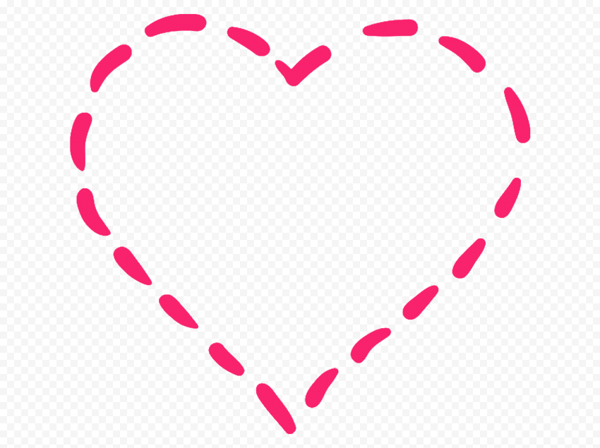 HD Pink Dotted Line Heart PNG