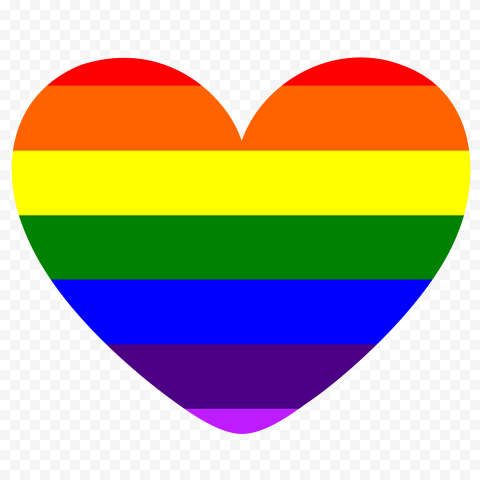 HD Rainbow Multicolored Heart PNG