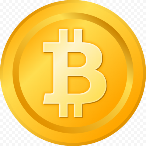 HD Bitcoin Cartoon Coin PNG