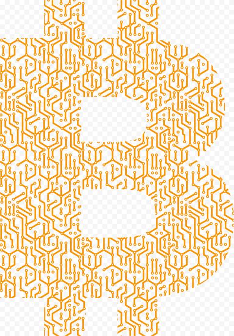 HD Orange B Bitcoin Letter Logo Icon PNG
