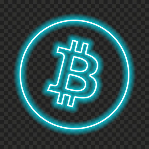 Hd Bitcoin Blue Neon Logo Icon Png Citypng