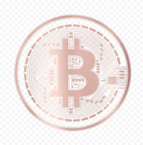 HD Rose Gold Bitcoin Crypto Blockchain Coin Icon PNG