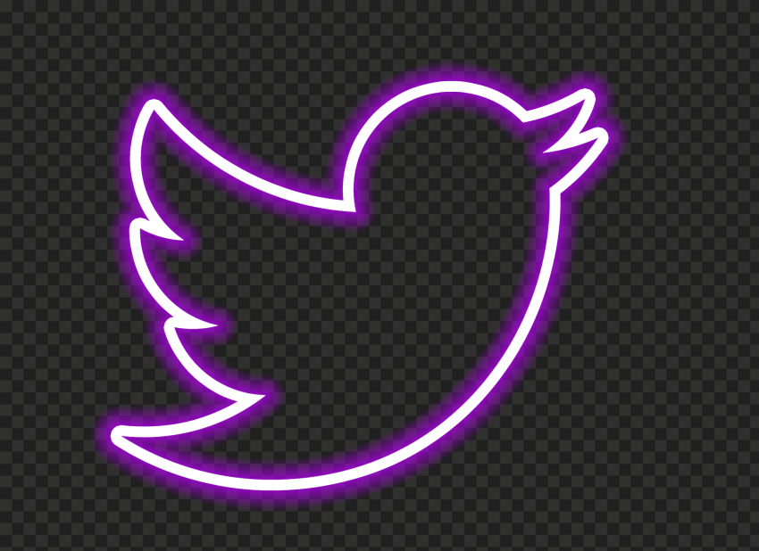 HD Purple Neon Twitter Aesthetic Logo PNG | Citypng