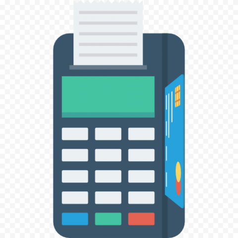 HD Flat Vector POS Credit Card Machine Icon PNG