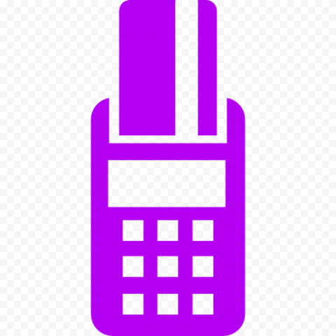 Purple POS Credit Card Machine Icon PNG