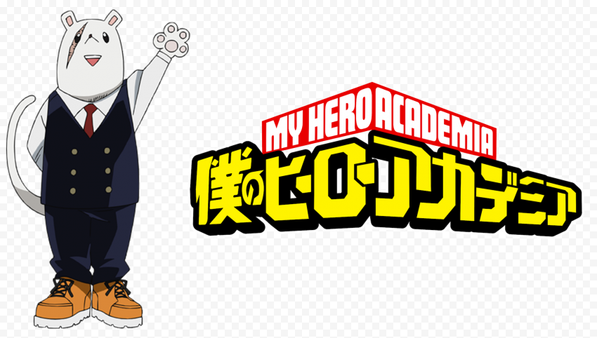HD Nezu Mr Principal Character With My Hero Academia Logo PNG
