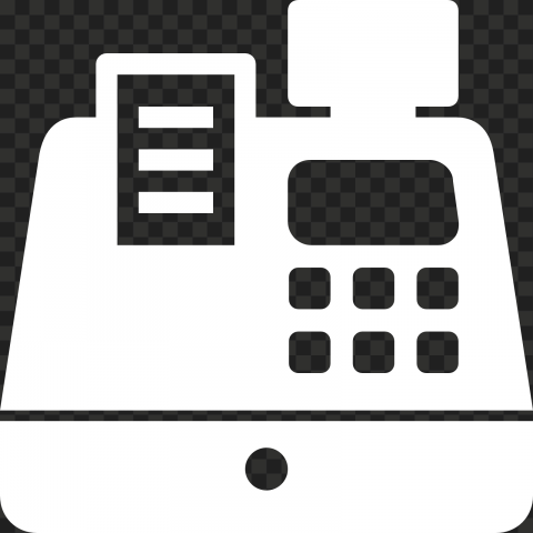 HD White POS System Machine Icon PNG