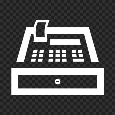 White POS System Machine Icon PNG