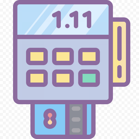 HD Aesthetic POS Card Payment System Icon PNG