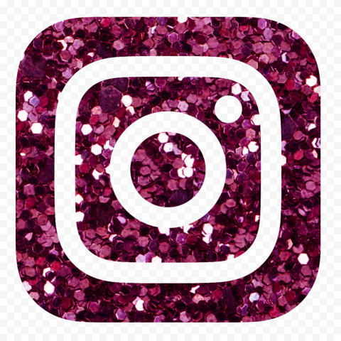 HD Instagram Aesthetic Pink Glitter Logo Icon PNG | Citypng