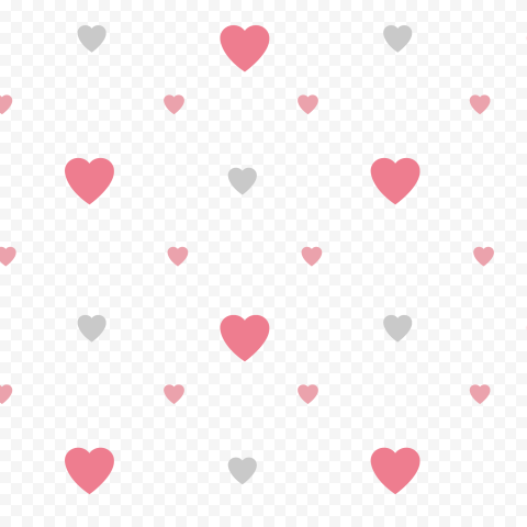 HD Valentine Day Hearts Pattern Background PNG