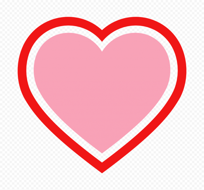 HD Pink Heart Inside Big Red Heart Valentine Day PNG