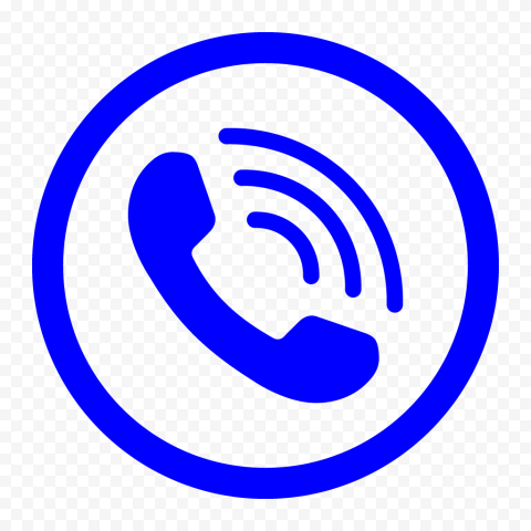 HD Blue Round Circle Phone Icon PNG