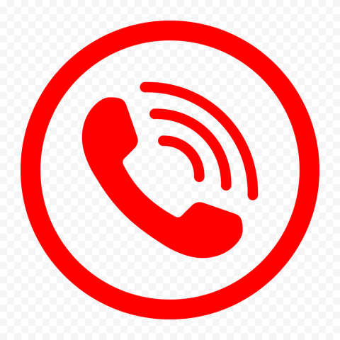 HD Red Round Circle Phone Icon PNG
