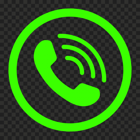 HD Green Lime Round Circle Phone Icon PNG