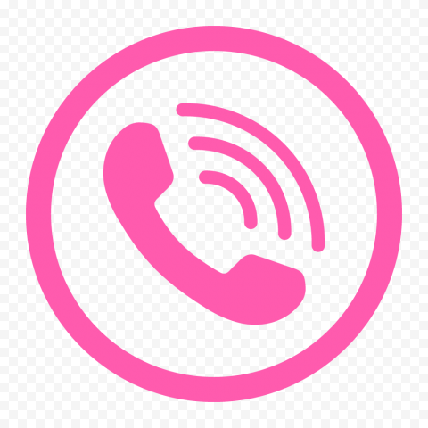 HD Light Pink Round Circle Phone Icon PNG